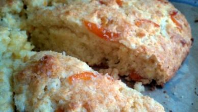 scones with candied kumquats