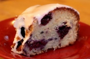 Easy lemon blueberry bundt cake