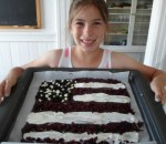 Easy and Fun Chocolate Bark Flag