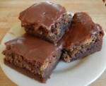 Fudgy Peanut Butter Swirled Brownies