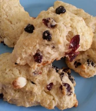Red White and Blue scones recipe