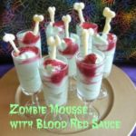 Halloween Chocolate Mousse- Zombie Mousse with Bloody Raspberry Sauce