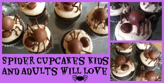 spider cupcakes kids
