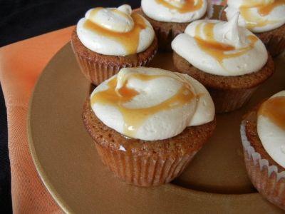 caramel apple cupcake caramel frosting