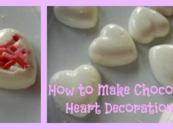 how to make chocolate heart decorations