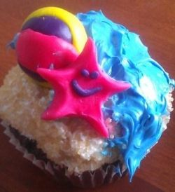 beach themed cupcake ideas