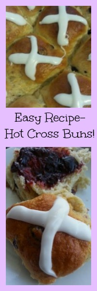 easy recipe hot cross buns