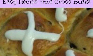 easy recipe hot cross buns