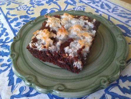 chocolate coconut brownie recipe