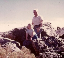 Opa and Me in the Mojave Desert - Nutella and Opa