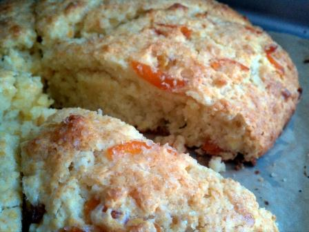 Candied Kumquat Scones with Crystallized Ginger