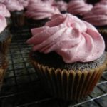 Chocolate and Red Wine Cupcakes with Blackberry Cabernet Frosting