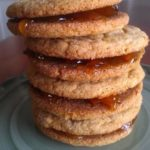 Ginger Apricot Sandwich Cookies