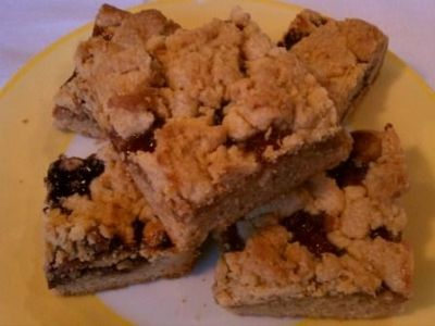 Peanut Butter and Jelly Cookie Bars recipe