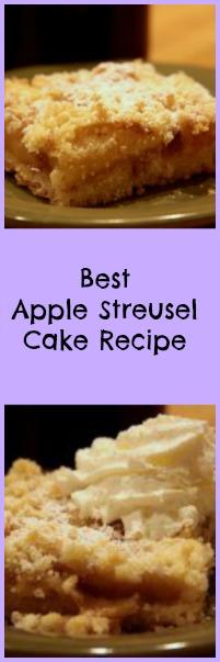 Best Apple Streusel Cake Recipe