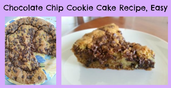 Chocolate Chip Cookie Cake Recipe Easy