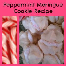 Peppermint Meringue Cookie Recipe