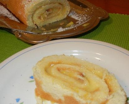 Lemon Curd Roulade Recipe (Lemon Cake Roll)