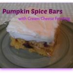 Pumpkin Spice Bars with Cream Cheese Frosting